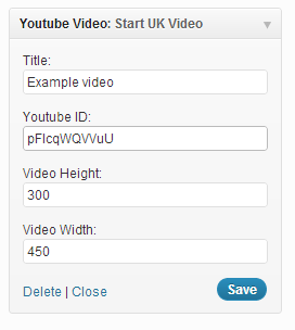 youtube-widget-form