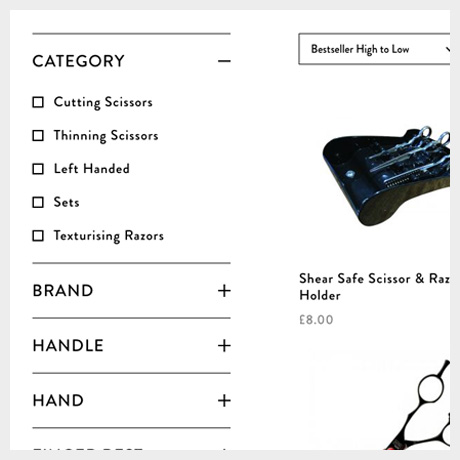 Barber Blades Categories