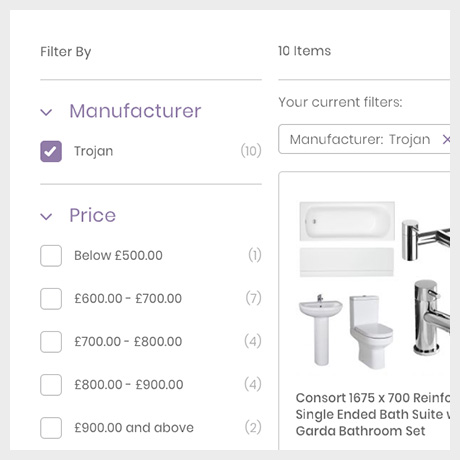 Bathrooms Category Page