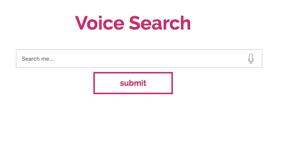 voice search box on websites