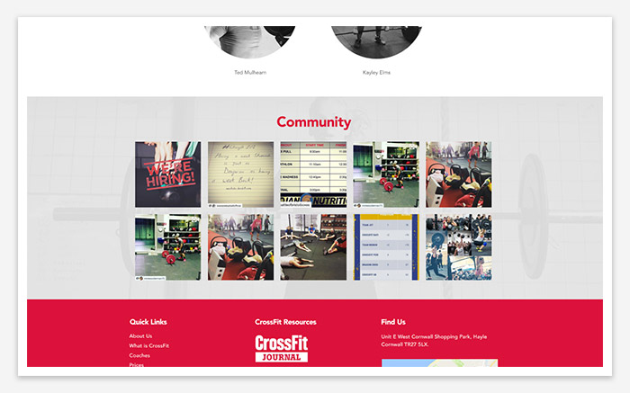 show social media presence web design